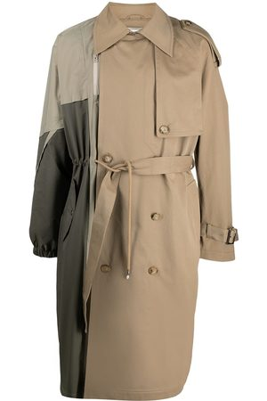 Feng Chen Wang Panelled double-breasted trench coat