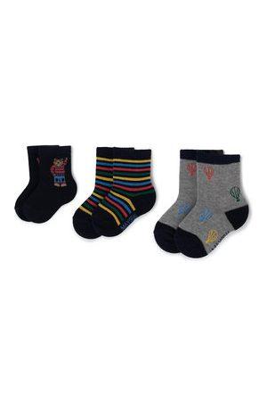 Mayoral Sada 3 párů dětských vysokých ponožek