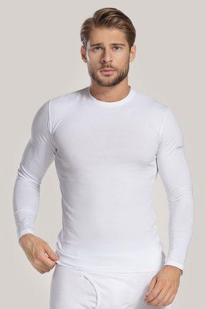 Enrico coveri Bílé tričko s dlouhým rukávem