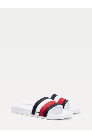 Tommy Hilfiger Muži Pantofle - Pánské bílé pantofle