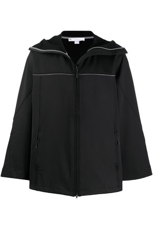 Y-3 Contrast piping hooded jacket