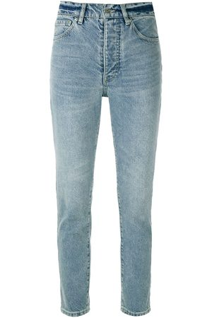 Armani High-rise cropped jeans