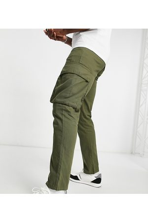 French Connection Tall utility cargo trouser in khaki-Green