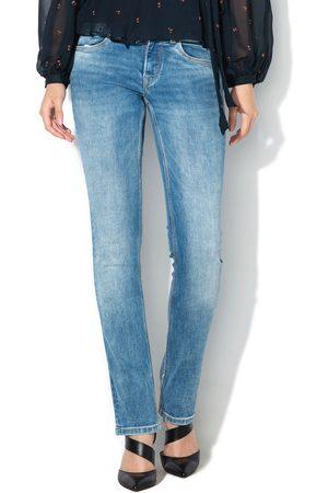Pepe Jeans Ženy Kalhoty - Dámské modré džíny Saturn