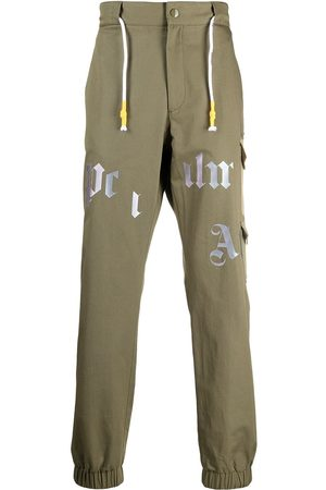 Palm Angels Logo-print cargo trousers