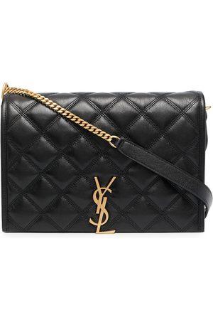 Saint Laurent Becky diamond-quilt shoulder bag