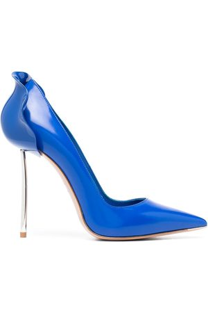 LE SILLA Petalo metallic heel pumps