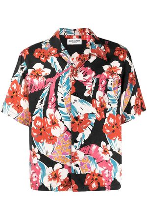 Saint Laurent Muži S krátkým rukávem - Hawaiian print short-sleeve shirt