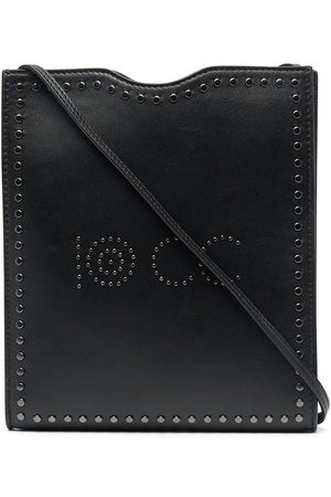 10 CORSO COMO Logo-studded leather shoulder bag