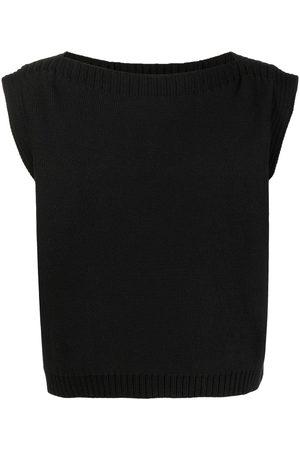 ECKHAUS LATTA Round neck knitted vest