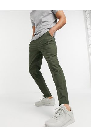 Selected Co-ord trouser with organic cotton in dark green