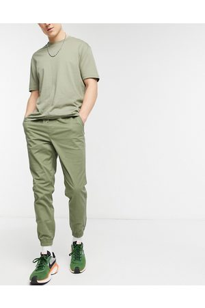 Jack & Jones Muži Chino - Intelligence cuffed trouser in khaki-Green