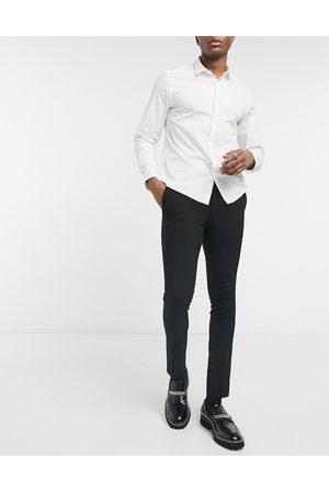 Bolongaro Muži Společenské - Plain skinny suit trousers in black