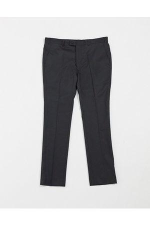 Bolongaro Plain super skinny suit trousers in black