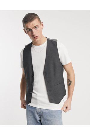 ASOS Skinny suit waistcoat in charcoal-Grey