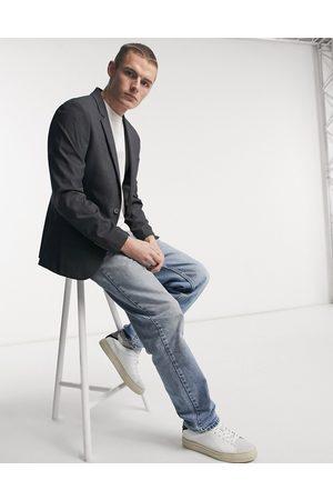 ASOS Muži Saka - Skinny suit jacket in charcoal-Grey