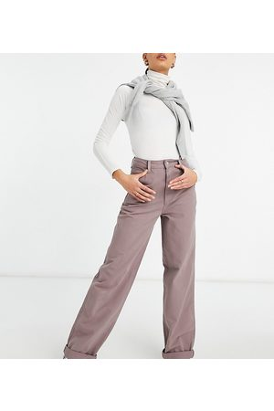 ASOS ASOS DESIGN Tall 'slouchy' chino in washed lilac-Purple