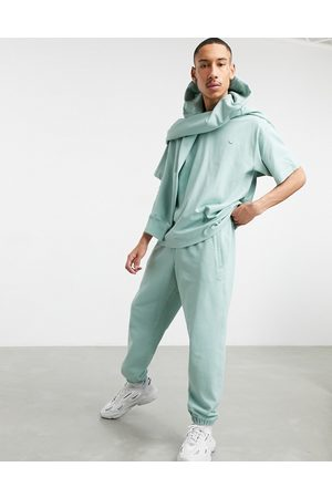 adidas Premium joggers co-ord in hazy green