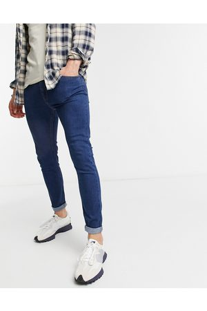 Bershka Super skinny fit jeans in dark blue