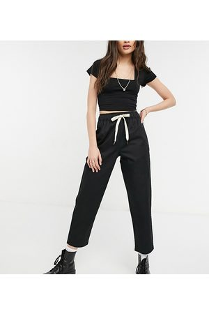 Reclaimed Vintage Cropped relaxed trouser in black
