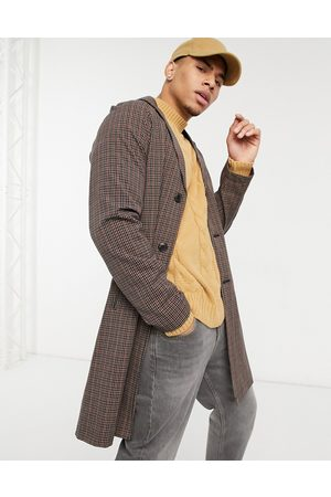 Harry Brown Gingham check belted duster coat