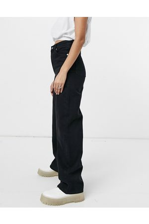 Levi's Levi's high loose wide leg jeans in black