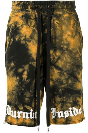 HACULLA Tie dye shorts with embroidered logo