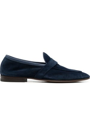 HENDERSON BARACCO Almond-toe suede loafers