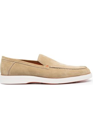 santoni Contrast-sole loafers