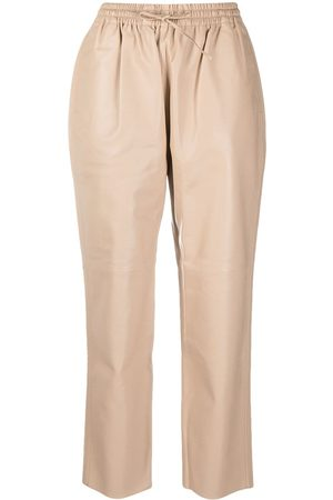 12 STOREEZ Tapered leather trousers