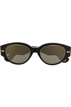 A Bathing Ape Sluneční brýle - Camouflage-print round-frame sunglasses