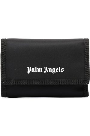 Palm Angels Logo print folded wallet