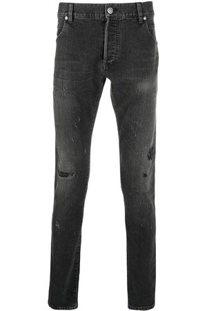 Balmain Distressed-finish denim jeans