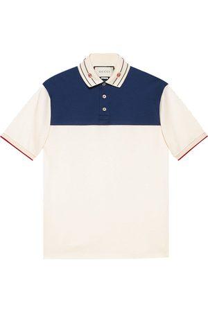 Gucci Embroidered-collar polo shirt