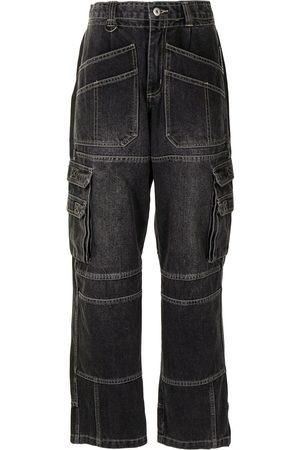 Ground Zero Ženy S vysokým pasem - High-waisted straight jeans