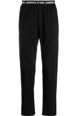 Karl Lagerfeld Logo-waistband pyjama pants