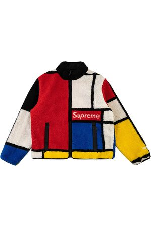 Supreme Reversible color-blocked fleece jacket