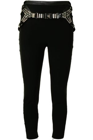 Gucci Pre-Owned Belted skinny trousers