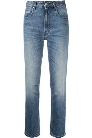 Ami High-waisted straight-leg jeans
