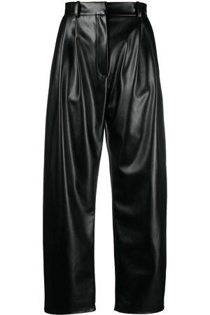 A.W.A.K.E. MODE Faux leather wide leg trousers