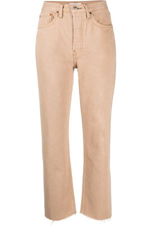RE/DONE High-waisted cropped jeans