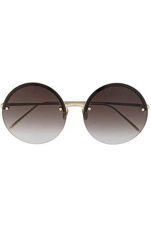 Linda Farrow Adrienne round-frame sunglasses