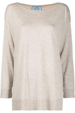 Prada Mélange-effect T-shirt