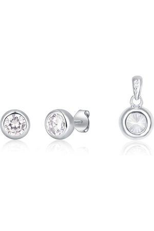 JVD Sada šperků se zirkony (přívěsek, náušnice) SVLS0030SH2BI00