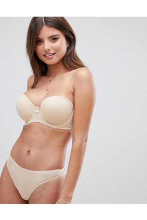 Pour Moi Definitions strapless bra in oatmeal-Beige