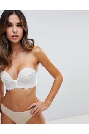 Wonderbra Refined glamour ultimate strapless lace bra a - g cup-Beige