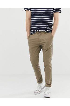 Jack & Jones Intelligence slim fit chinos in sand-Beige