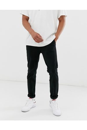 Jack & Jones Intelligence slim fit chinos in black
