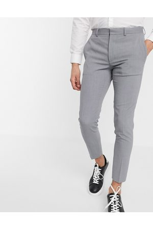 ASOS Super skinny cropped smart trousers in grey