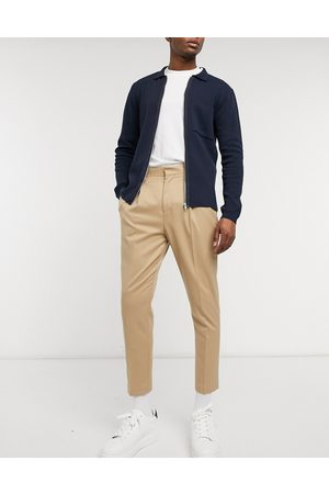 ASOS Tapered smart trousers in stone